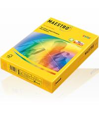 Цветна копирна хартия - ЯРКИ - ярко жълт, слънчево жълт, оранжев, зелен, тъмно зелен, син, червен, цвят горчица