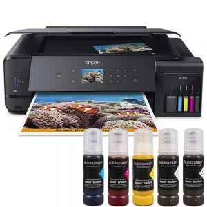 Принтер за сублимация А3 Epson EcoTank 7750 + 5x80 мл сублим. мастило Sublisplash + хартия