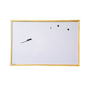 Бяло табло с дървена рамка Cork Nature - 60х90 cm