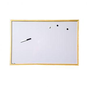 Бяло табло с дървена рамка 80х120 cm